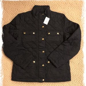 New J.Crew navy quilted field jacket
